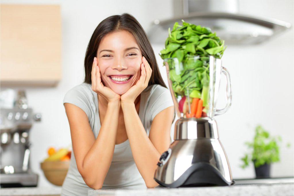 blending vegetables